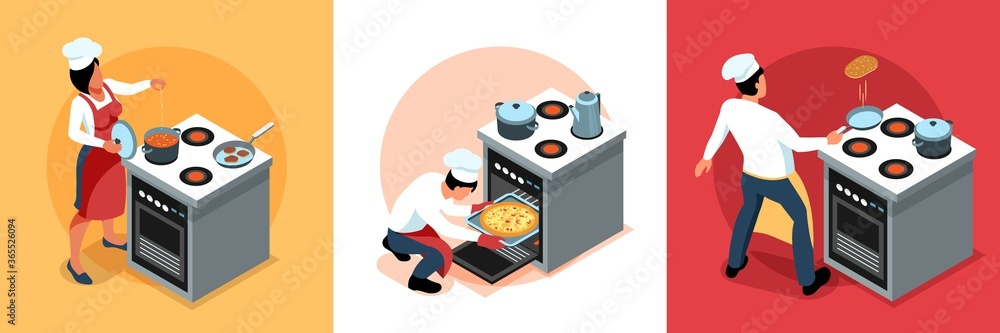 Fototapeta Cooking People Design Concept