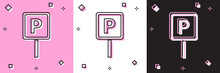 Set Parking Icon Isolated On P...