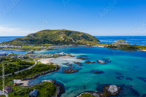 Fototapeta view of the bay of the island of crete greece