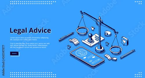 Fototapeta Legal advice banner