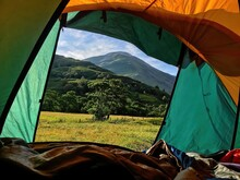 UK, Scotland, View From Tent A...