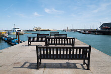 Wooden Benches In The Royal Ha...