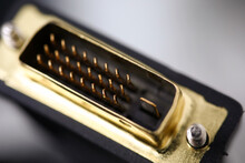 Male Dvi Connector With Golden...