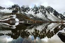 Switzerland, Graubunden, Snowy...