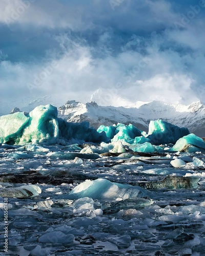 Photo Iceland, Icebergs on Jokulsarlon glacial lake