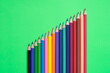 canvas print picture - Set of wooden colored pencils for school illustration