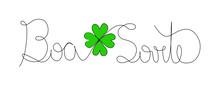 Good Luck Line Art Design, Wri...