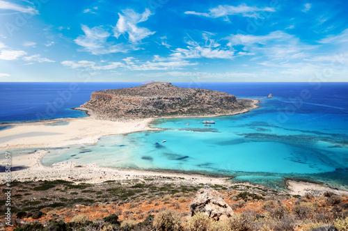 Famous Balos lagoon, Crete, Greece
