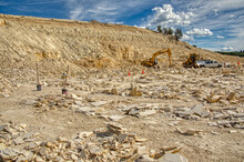 Fossil Quarry In The World Famous Green River Fossil Deposit In Wyoming