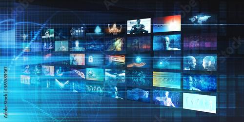 Leinwand Poster Interactive Media