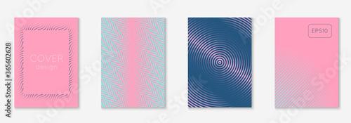 Obraz Minimalistic cover template set with gradients - fototapety do salonu