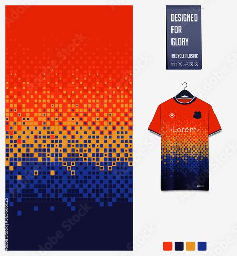 Fotografie, Obraz Blue Orange gradient, geometry shape abstract background