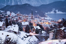 Winter View Of St. Moritz At D...