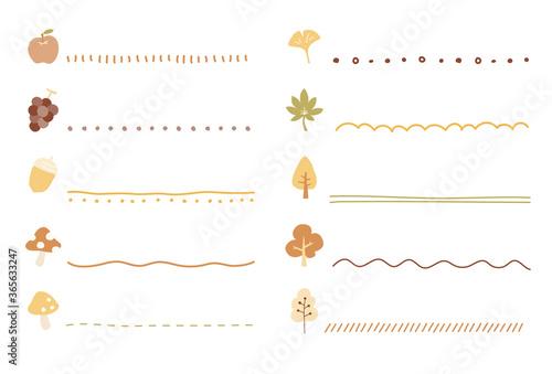 Foto 秋のフレームやイラストのセット/手書き/かわいい/装飾