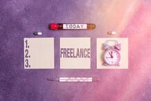 Writing Note Showing Freelance...