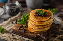 Vintage Pancakes With Berries