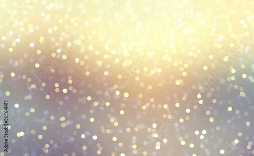 Winter nature abstract silhouette blur background decorated glitter confetti Canvas Print
