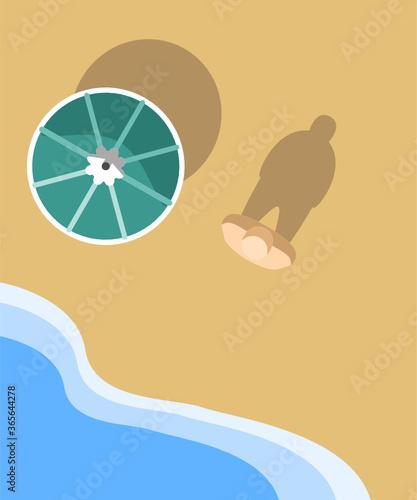 Fotomural Ultra minimal series: beach vacation sea water sunny dag summer - minimal modern