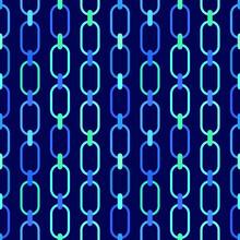 Chain Links Seamless Pattern. Vector Stock Illustration Eps10.