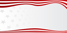 Red Vector Metal Ribbon Flag B...