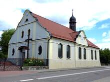 Wybudowany W 1913 Roku Kosciol Katolicki Pod Wezwaniem Najswietszego Serca Pana Jezusa W Miescie Orzysz Wojewodztwo Warminsko Mazurskie W Polsce