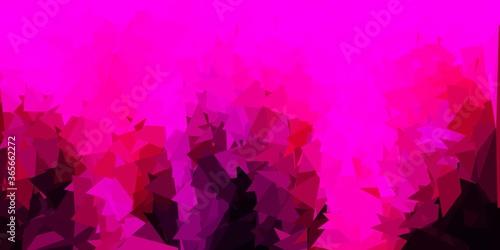 Dark pink vector triangle mosaic template.