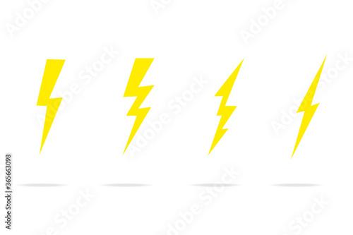 Slika na platnu Set Lightning bolt