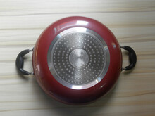 Red Color Non Stick Karahi Deep Cooking Pot With Induction Bottom Surface