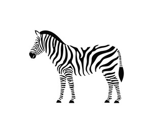 Panel Szklany Zebry Zebra logo. Isolated zebra on white background