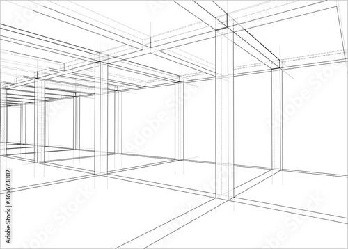 Obraz Drawing of a house under construction - fototapety do salonu