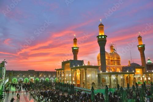 Fototapeta The shrine of Imam Musa Al-Kadhim and Imam Muhammad Al-Jawad in Al-Kadhim, Baghd