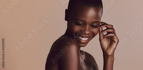 African woman with buzz cut hairstyle