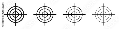Target icon set. Vector isolated goal symbol. Slika na platnu