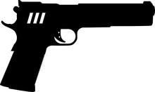 Handgun Pistol Gun Svg Vector ...