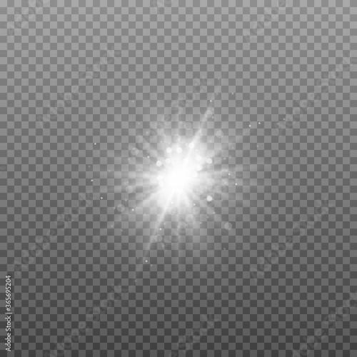 Fototapety, obrazy: White sparkles, stars