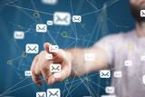 Fototapeta Kawa jest smaczna - interface communication support contact concept service
