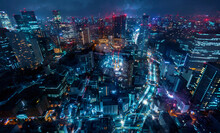 Tokyo, Japan Cityscape View Fr...