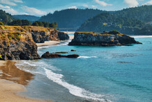Inlet Cliffs Rocks Coast Mendocino Beach Pacific Ocean Northern California