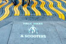 Walk Bikes & Scooters Lane Sig...