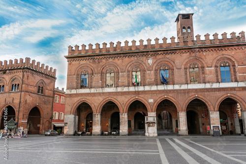 Town Hall and Loggia dei Militi, Cremona. Italy Canvas Print