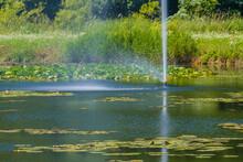 Closeup Of Fountain Shooting W...