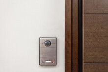 Modern House With Contemporary Doorbell Near Door