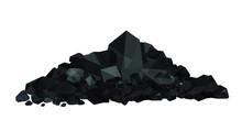 Pile Of Charcoal , Coal Heaps ...