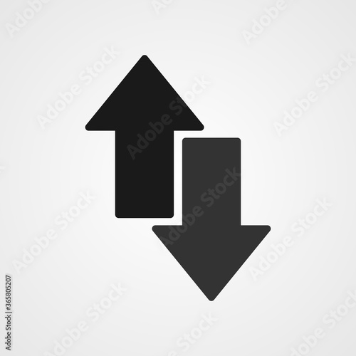 Obraz up and down arrows icon vector - fototapety do salonu