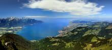 Vue Aérienne Du Lac Léman De...