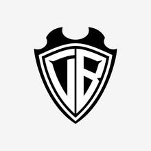 D B Initials Monogram Logo Shi...