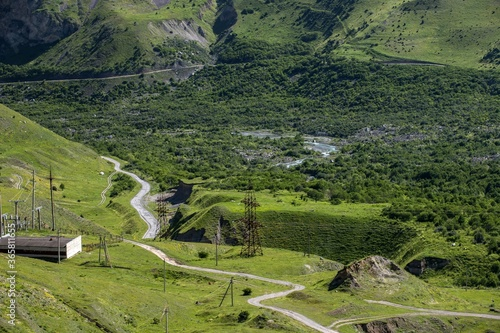 Tela Karmadonskoe gorge after tragedy when the Kolka glacier claimed the lives of hundreds of people in 2002
