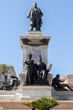 ROME, ITALY - 2014 AUGUST 18. Monument Statue Of Camillo Benso Conte Di Cavour.