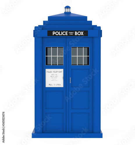 Police Box Isolated Wallpaper Mural