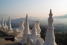 Wat Phra That Doi Kong Mu Temple On Top Of Kong Mu Hill In Mae Hong Son